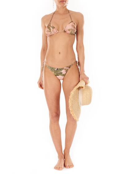 Toucan Triangle Bikini, salmon