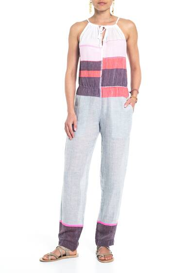 Jumpsuit, rosa/grey