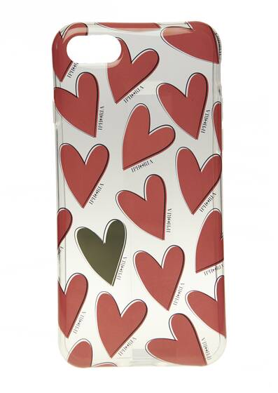 I-Phone Case 7/8 – Hearts Red, Case for Apple