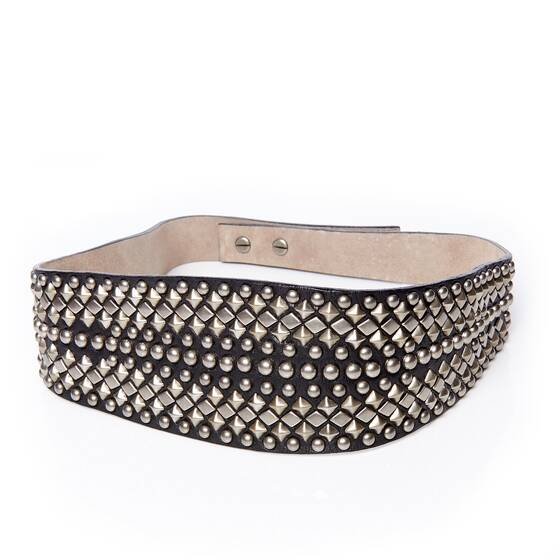 Waist Belt Leather with Studs