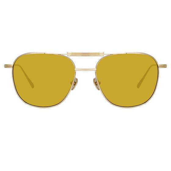 WILDER AVIATOR Sunglasses In Yellow Gold