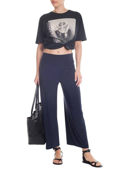 Cropped Straight Leg Pant, pewter