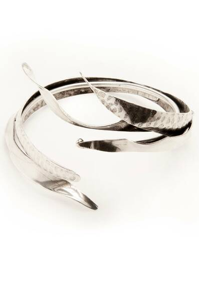 Silver Koyo Bracelet - Five Leaves, bathed in Silver