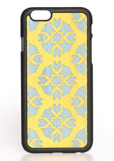 iPhone 6-Hülle aus Holz Byzantine Yellow