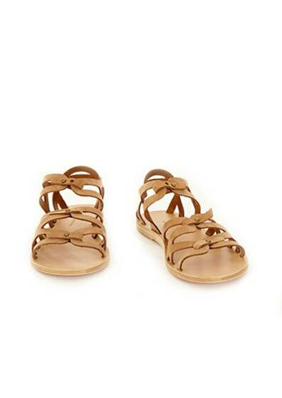 Trinity Leather Sandals Cumin