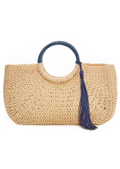 Beach Bag Sorrento, natural/navy