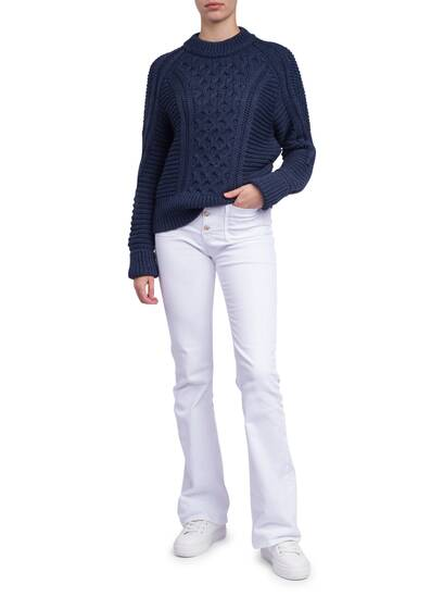 Knitted Pullover, blue