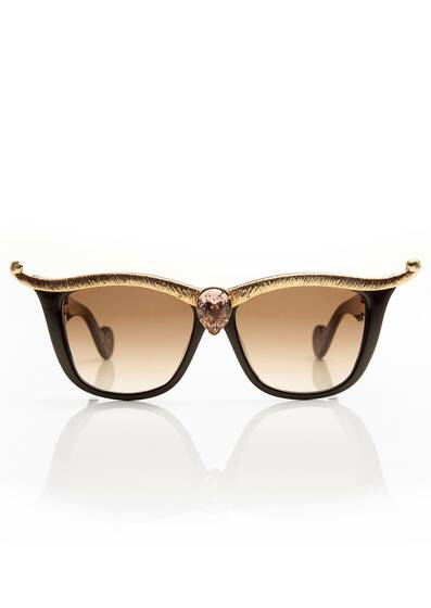 "Sunglasses Black ""Empress"" Champagne"