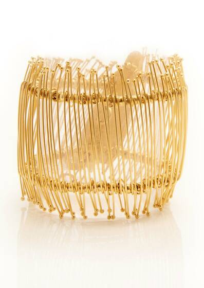 Golden Needle Bracelet, gold plated, 18-carat, Yellow gold