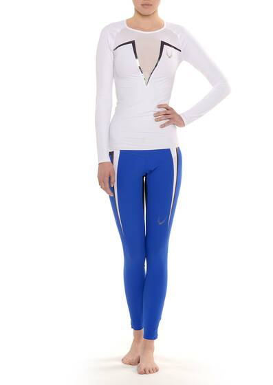 Molten Leggings aus Stretch Kobalt Blau