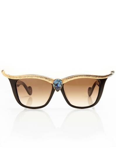 "Sunglasses Black ""Empress"" Royal Blue"