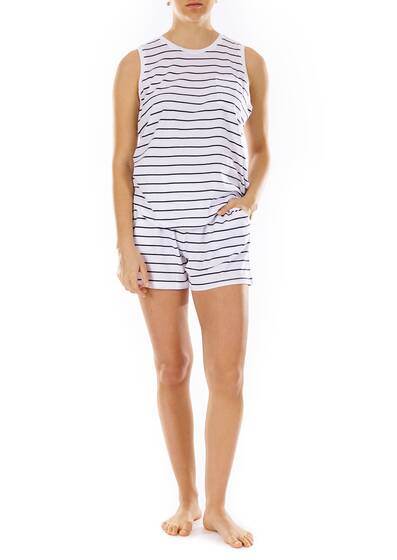 Ashlyn Short black white stripe