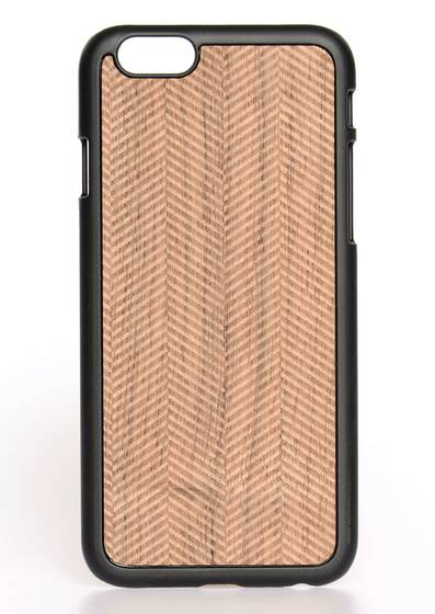 i-Phone 6-Hülle aus Holz Herringbone Black Wood