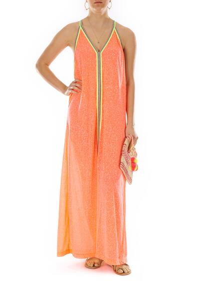 Langes Kleid, orange