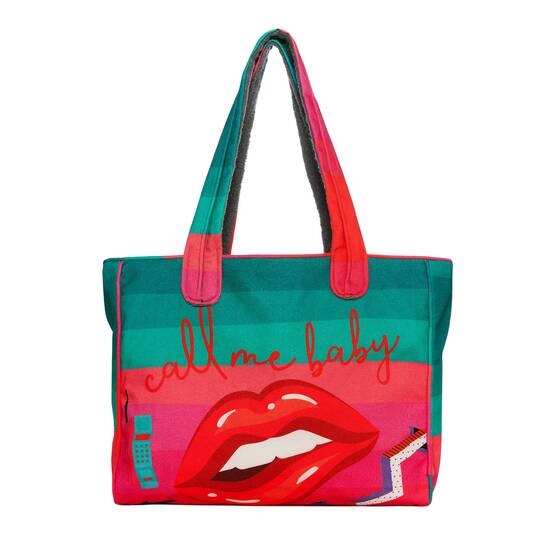 Tote Beach Bag, Lipstick