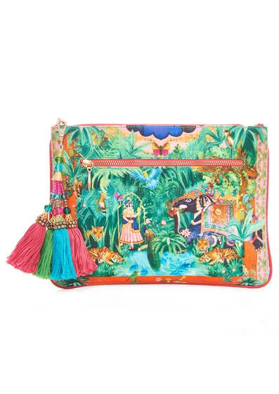 Small Canvas Clutch, colorful