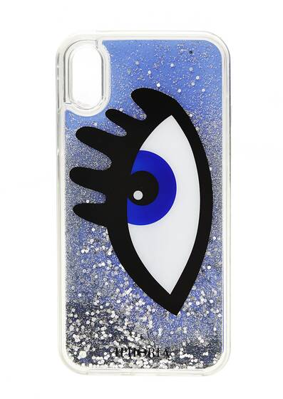 I Phone X Case - Blue Eye Liquid Case for Apple