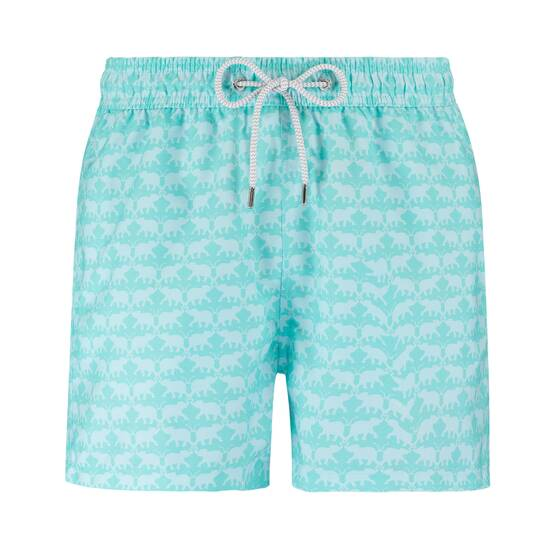 Staniel Swim Short, Elephant Dance Mint