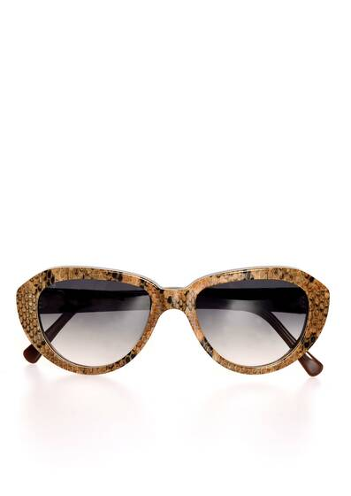 Roma Sunglasses, Snakeskin Look