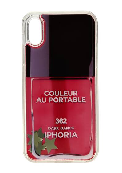 I Phone X Case - Nailpolish Stars Liquid Case for Apple