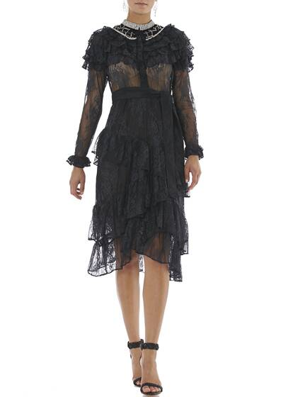 Dress Monabella in Black Lace