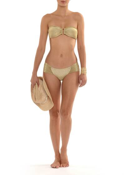 Every Day Bandeau Bikini Gold