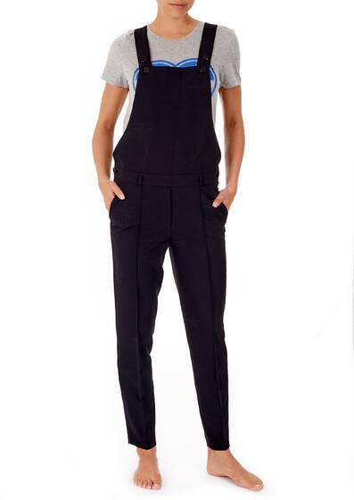 Dungarees black regular fit