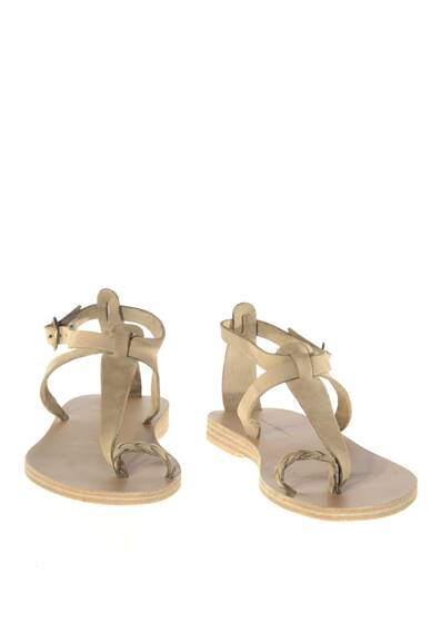 Lorient Leather Sandals Khaki/Beige