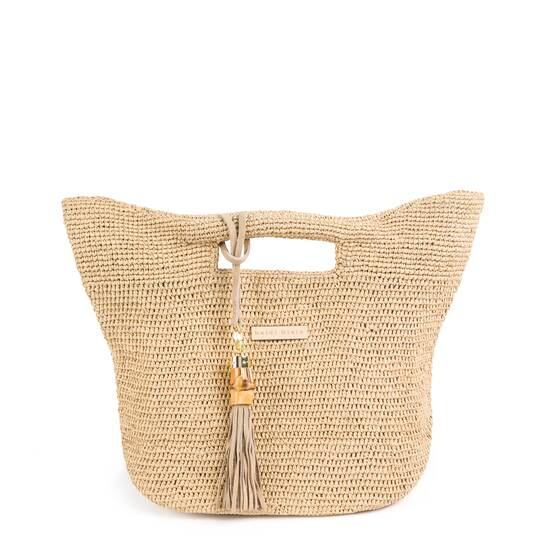 Large Grace Bay Raffia Bucket Bag
