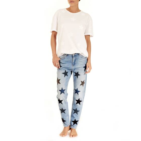 Denim Pants Indigo Star