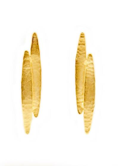 Golden Koyo Earrings, gold-plated, 18-carat gold Yellow gold