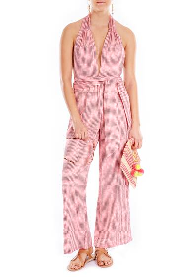 Jumpsuit Sora with Halter Neck