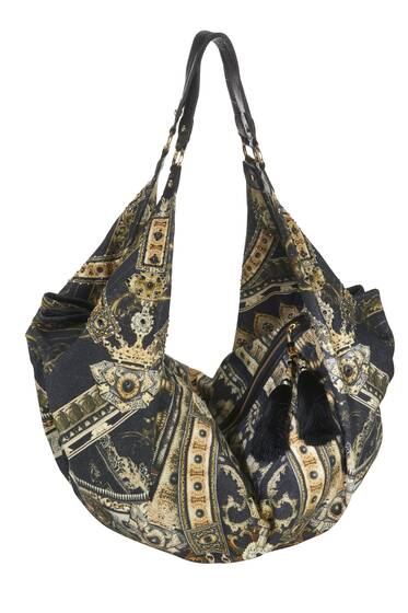 Shoulder Bag, black printed